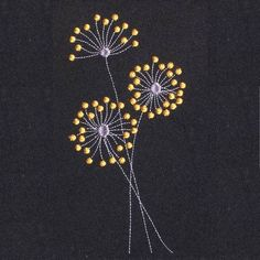 Dear Dandelion Free Machine embroidery design