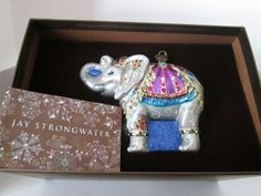 Jay Strongwater Parading Elephant Glass Ornament Jewel Brand New in Box | eBay