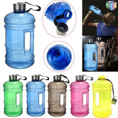 HAINES Big Capacity Water Bottles Sport Fitness Training Camping Running Workout Getrank Flasche Space Water Bottle Large Water Bottle, Gallon Water Bottle, Bpa Free Water Bottles, Sports Training, Gym Training, Sport Fitness, Plein Air, Drinking Water, Ebay