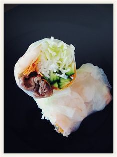 I& be honest, these spring rolls are kind of a pain to make. The thin rice paper wrappers are a nightmare if you& never worked with them. Vietnamese Pork, Vietnamese Spring Rolls, Vietnamese Recipes, Asian Recipes, Beef Recipes, Cooking Recipes, Healthy Recipes, Cooking Time, Cooking Ideas