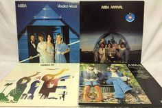 ABBA Lot of 4 Vinyl Records Greatest Hits G/H Album Voulez-Vous Arrival PROMO