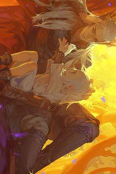 shoujo-addict: Thranduil and Legolas #hobbit #fanart