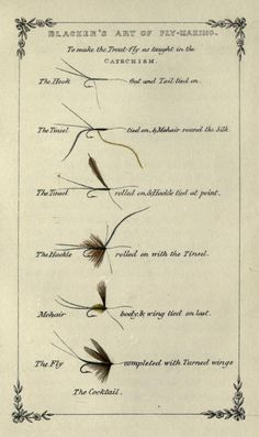To make the Trout-fly as taught in the Catechism, William Blacker - Art of Fly Making 1855