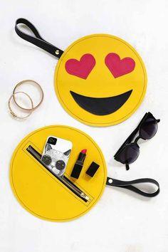 Make a clutch that showcases your emoji obsession.