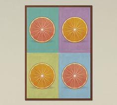 ORANGES - Large Wall Art, Pop Art, scandinavian print, printable art, mid century modern, home decor, Kitchen print, instant download  The