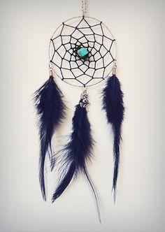 Dreamcatcher Necklace Gothic Necklace by WickedandLovelyStore