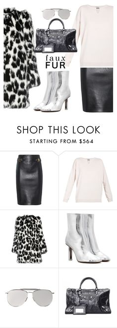 """Faux Fur Minimalism"" by hattie4palmerstone ❤ liked on Polyvore featuring Moschino, Brunello Cucinelli, Marc Jacobs, Vetements, Thom Browne, Balenciaga and fauxfurcoats"