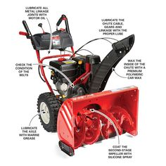John Deere 44 In Two Stage Snow Blower Attachment For