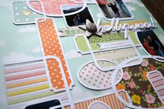 silhouette cameo scrapbook layouts | Chris and Paige: The One with February 2012 American Crafts and Hambly ...