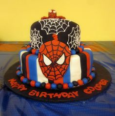 Spiderman is the theme... Inspiration: Darlin' Designs: Spiderman Birthday Cake