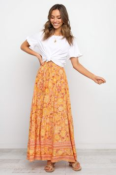 Maxi Skirt Style, Maxi Skirt Outfits, Dress Skirt, Maxi Skirt Outfit Summer, Cute Maxi Skirts, Modest Summer Outfits, Spring Outfits, Modest Summer Fashion, Girly Outfits