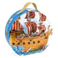 Janod 02819 - Puzzle Köfferchen - Piratenschiff, rund, 39 Teile Janod http://www.amazon.de/dp/B00J57QB5C/ref=cm_sw_r_pi_dp_pqd7vb1R29TYS