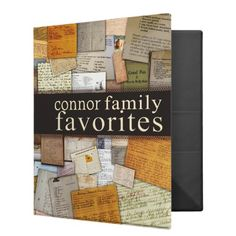 Personalize your own family recipe cookbook! If you're looking for a great gift for your mom, grandmother or other family member, why not add a collection of family favorite recipes to this personalized cookbook. You can change the last name on the cover and the spine to make it your family's favorites! From aslentz on Zazzle!