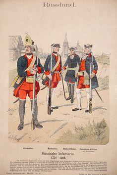Russland 1756/1762 - Uniformenkunde - Richard Knötel - III- Planche 27