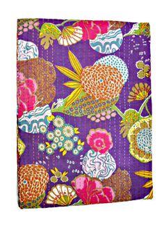 Kantha Quilt, Queen Quilt, Kantha Blanket, Queen Bed Cover, Queen Blanket, Indian Bedspread, Queen Kantha bedspread, Bohemian Bedding Kantha
