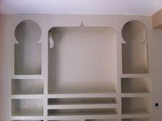 Mueble árabe de salón de pladur.