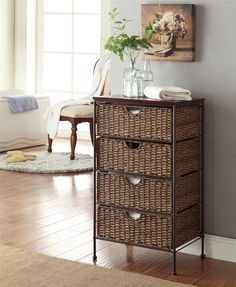 4 Maize Weave Drawer Chest