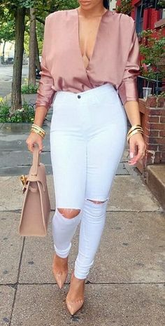 Strutin' through these NYC streets Top @Naked Wardrobe Jeans @Hot Miami Styles Shoes @Christian Louboutin Bag @lyalya__