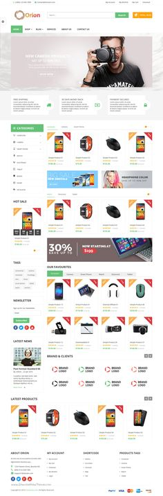 VG Orion is business and eCommerce #WordPress Theme with 4 Unique Layouts for #multipurpose responsive #website. Download Now!