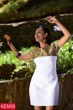 Ethiopian Eritrean dress habesha dress traditional modern clothing dress Kemisd Source by luvivanco clothing African Fashion Ankara, Latest African Fashion Dresses, African Print Fashion, Africa Fashion, Ethiopian Traditional Dress, African Traditional Dresses, Traditional Clothes, Short African Dresses, African Print Dresses