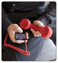 POP Phone Handset For iPhone, iPad, smartphone Cadeau High Tech, Google Talk, High Quality Speakers, Smartphone, Ipad, Deco Originale, All Mobile Phones, Deco Design, Telephone