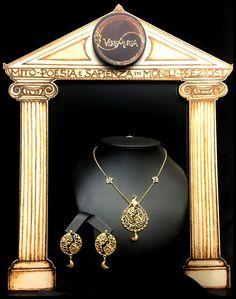 """""""Tivr"""", Collier ed orecchini in oro 18 kt. Handmade, Limited Edition."""