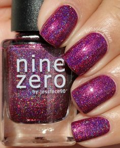 KellieGonzo: Nine Zero Lacquer January 2016 Polish of the Month Swatch & Review