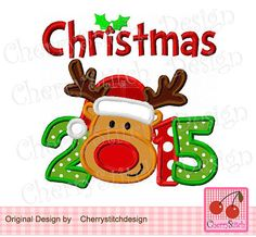 Christmas 2015 with Reindeer Christmas by CherryStitchDesign
