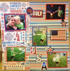 4th of July page #scrapbooking