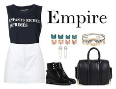 """""""Empire"""" by anaelle2 ❤ liked on Polyvore featuring Enfants Riches Déprimés, Alaïa, Givenchy, Christian Dior, Cartier, Alexander McQueen, Letters By Zoe, Maison Margiela and Giuseppe Zanotti"""