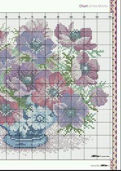 l'espace lilas: Une demande polie ... modèles de point de croix de navires pour Lucia / point de croix des vases et des corbeilles de fleurs, des graphiques