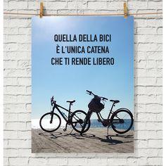 Poster motivazionale per gli amanti della bicicletta.