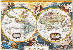 "Copy of ""World map"", 18th century    Pieter Vander"