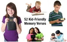 52 Kid-Friendly Bible Memory Verses - you could include one of these verses in each letter you mail to your sponsored child