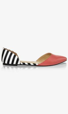 Getting Ready for Spring: Closet Edition - striped flats are drool-worthy.