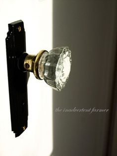 I want to replace my vintage brass door knobs with these beautiful crystal knobs with oil-rubbed bronze plates.