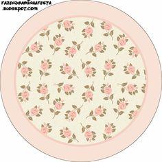 Delicadas Rosas: Etiquetas para Imprimir Gratis.
