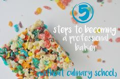 Is being a baker your #dreamjob? Stop dreaming and start doing! I'll tell you how I did it in 5 steps. (Hint: It didn't include culinary school)