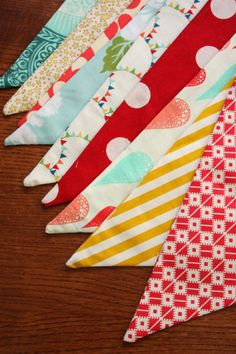 Set of TWO Carnival Themed Fabric Bunting by StarlitNestGifts, $65.00...goal: make this