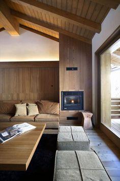 Contemporary Interior Design: Modern Wood House By Studio Fanetti Modern Home Interior Design, Modern House Design, Interior Architecture, Interior Ideas, Residential Architecture, Interior Decorating, Decorating Ideas, Modern Wood House, Wooden House