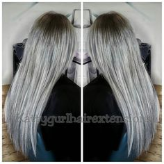 Another beautiful Silver/Grey on a blonde canvas waiting for patiently for this dream. Patience, Hair Extensions, Waiting, Dreadlocks, Dreams, Canvas, Grey, Hair Styles, Instagram Posts
