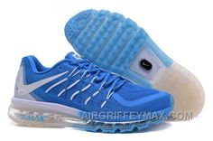 http://www.airgriffeymax.com/new-arrival-air-max-2015-nike-men-running-shoes-blue-white.html NEW ARRIVAL AIR MAX 2015 NIKE MEN RUNNING SHOES BLUE WHITE Only $90.00 , Free Shipping!
