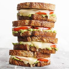 Tomato-Avocado Grilled Cheese: Put a grown-up spin on a classic with this tasty grilled cheese.