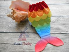 Rainbow Mermaid OS Ai2 Cloth Diaper by Dutch Baby Boutique www.facebook.com/DutchBabyBoutique www.dutchbabyboutique.com