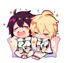 Mika and yuu from owari no serph