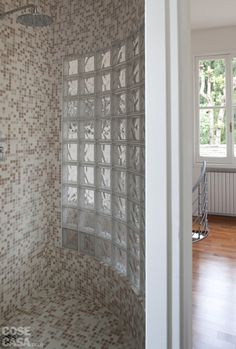 small spaces..shower Beige Bathroom, Small Spaces, Curtains, Shower, House, Furniture, Inspirational, Home Decor, Studio