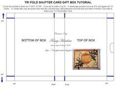 TRI FOLD SHUTTER CARD AND MATCHING