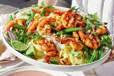 BBQ prawn and rice noodle salad