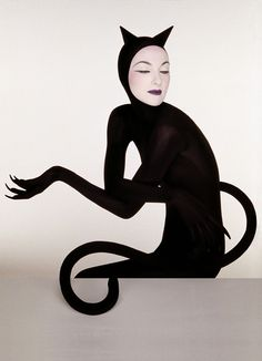 THE CAT WOMAN Serge Lutens: Berlin to Paris #fashion #black #cat #avantguard