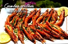 Gambas-grillées-à-la-plancha de Petits Plats entre Amis Bbq, Barbecue Weber, Carrots, Shrimp, Salmon, Seafood, Special Occasion, Grilling, Food And Drink